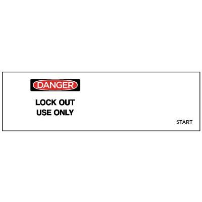 Danger - Lock Out Use Only OSHA Lockwrap (Clear)