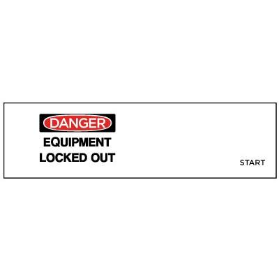 Danger - Equipment Locked Out OSHA Lockwrap