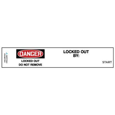 Danger - Locked Out OSHA Lockwrap (Master Lock Size 7)