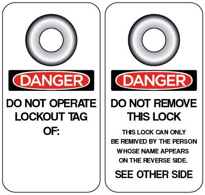 Danger - Do Not Operate Lockout Tag Of OSHA Lockout Tag