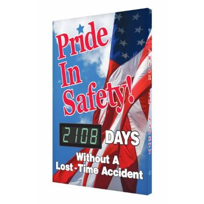 Pride in Safety! _ Days Without a Lost Time Accident Safety Scoreboard