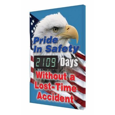Pride in Safety _ Days Without a Lost Time Accident (Eagle) Safety Scoreboard