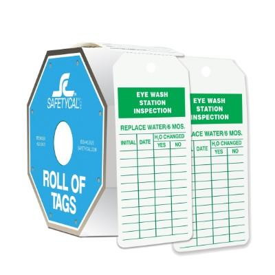 Eye Wash Station Inspection - Roll of Tags