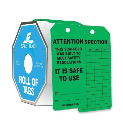 Attention - Scaffold is Safe to Use Roll of Tags