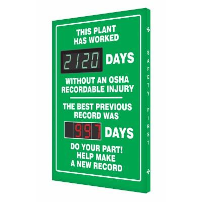 This Plant Has Worked _ Days Without an OSHA Recordable Injury - Safety Scoreboard