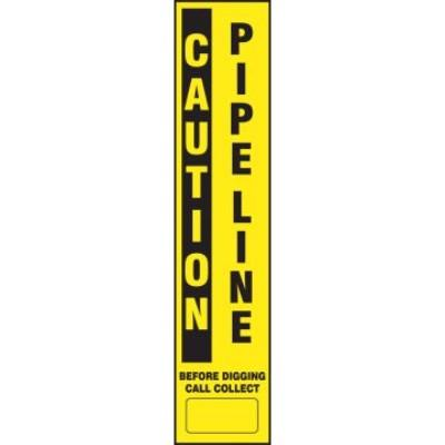 Caution - Pipeline Buried Utility Label