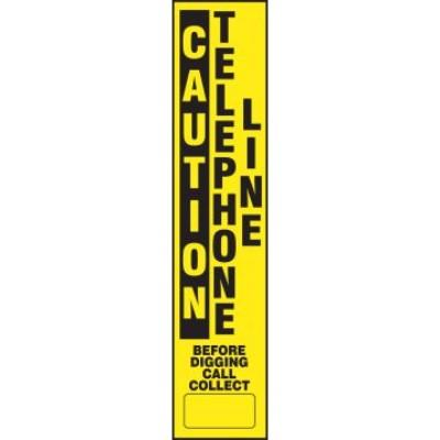 Caution - Telephone Line Buried Utility Label