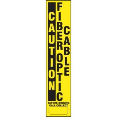 Caution - Fiber Optic Cable Buried Utility Label