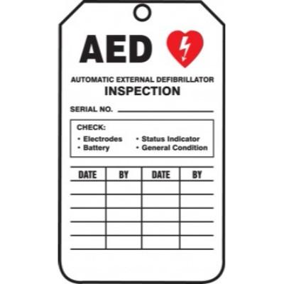 AED Inspection (Serial No.) Tag