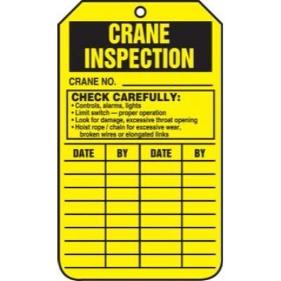 Crane Inspection Tag