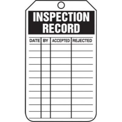 Inspection Record (Accepted/Rejected) Tag