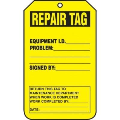 Repair Tag (Equipment ID)