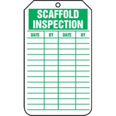 Scaffold Inspection Tag