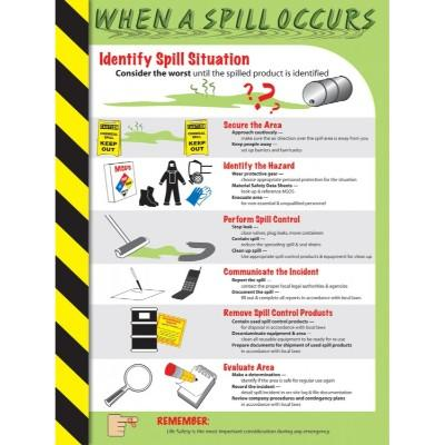 When a Spill Occurs - Safety Poster