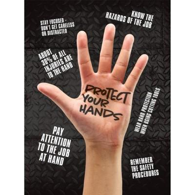 Protect Your Hands Safety Poster Safetycal Inc