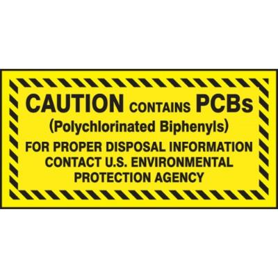 Caution Contains PCBs - For Proper Disposal PCB Label