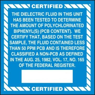 Certified - The Dielectric Fluid (Vol. 17) PCB Label