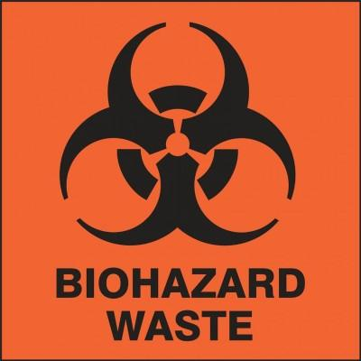 Biohazard Waste - Hazardous Waste Label