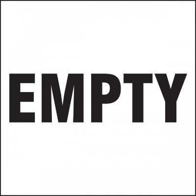 Empty - Hazardous Waste Label