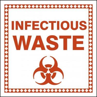 Infection Waste - Hazardous Waste Label