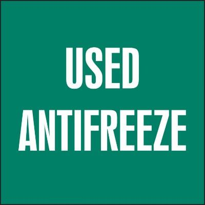 Used Antifreeze - Hazardous Waste Label