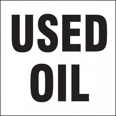 Used Oil - Hazardous Waste Label