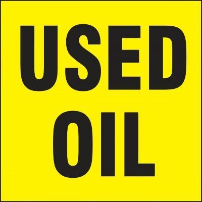Used Oil (Yellow) - Hazardous Waste Label