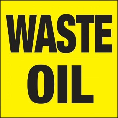 Waste Oil - Hazardous Waste Label