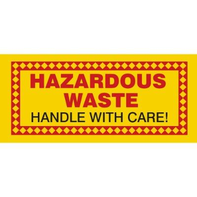 Hazardous Waste - Handle with Care Hazardous Waste Label