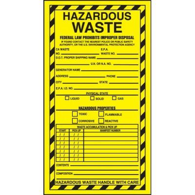 Hazardous Waste - Hazardous Properties Label