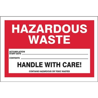 Hazardous Waste - Accumulation Start Date Label