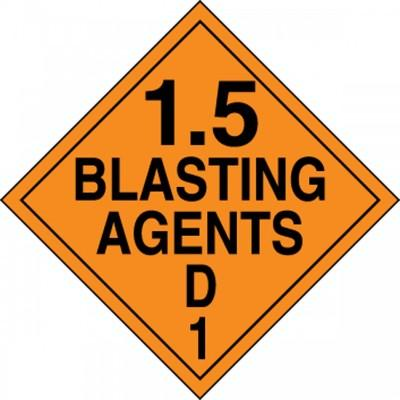 Hazard Class 1 - Blasting Agents DOT Placard