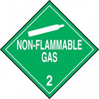 Hazard Class 2 - Non-Flammable Gas DOT Placard