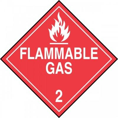 Hazard Class 2 - Flammable Gas DOT Placard