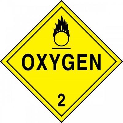 Hazard Class 2 - Oxygen DOT Placard