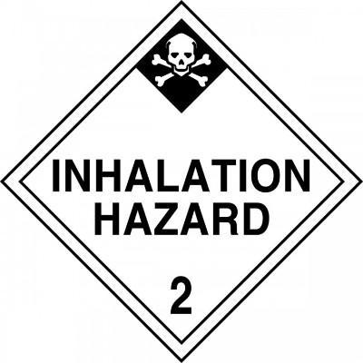 Hazard Class 2 - Inhalation Hazard DOT Placard