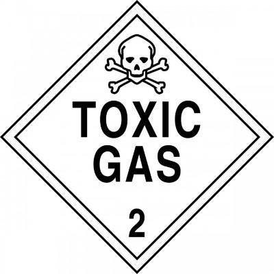 Hazard Class 2 - Toxic Gas DOT Placard