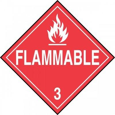 Hazard Class 3 - Flammable DOT Placard