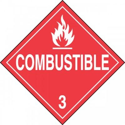 Hazard Class 3 - Combustible DOT Placard