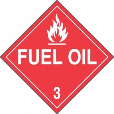 Hazard Class 3 - Fuel Oil DOT Placard