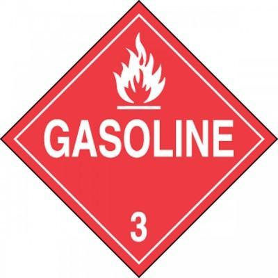 Hazard Class 3 - Gasoline DOT Placard
