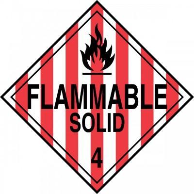 Hazard Class 4 - Flammable Solid DOT Placard