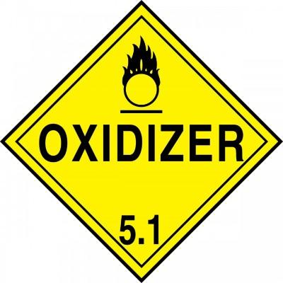 Hazard Class 5 - Oxidizer DOT Placard