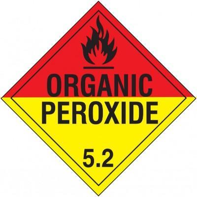 Hazard Class 5 - Organic Peroxide DOT Placard