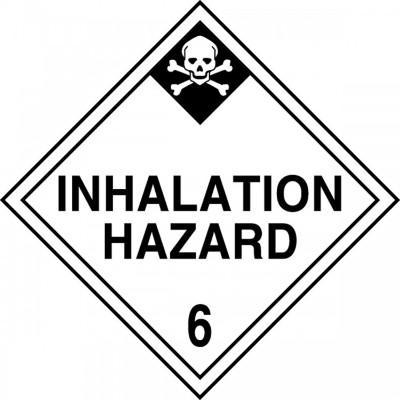 Hazard Class 6 - Inhalation Hazard DOT Placard