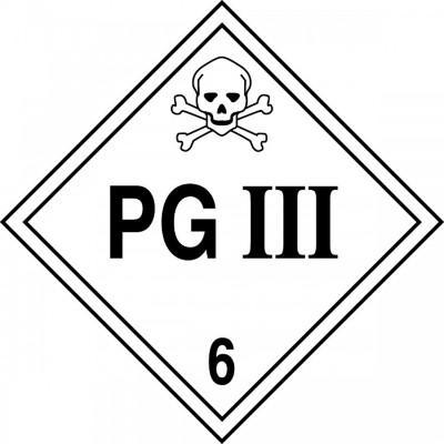 Hazard Class 6 - PG III DOT Placard