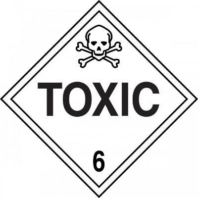 Hazard Class 6 - Toxic DOT Placard