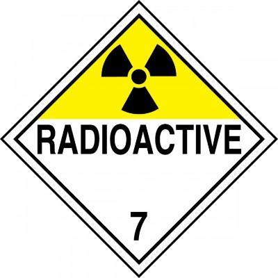 Hazard Class 7 - Radioactive DOT Placard