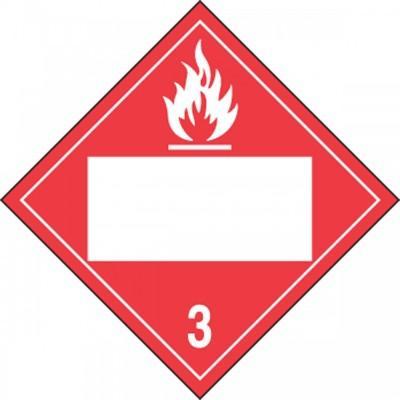 Hazard Class 3 - Flammable Blank 4-Digit DOT Placard