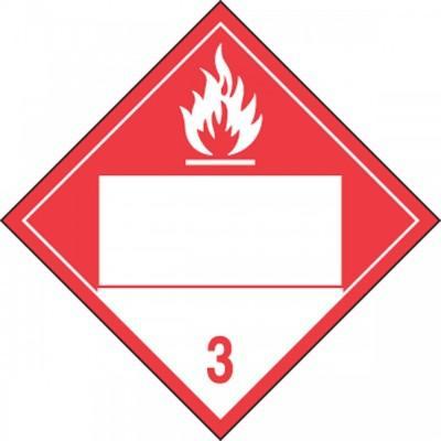 Hazard Class 3 - Combustible Blank 4-Digit DOT Placard